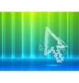 mouse pointer abstract background vector image