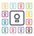 achievement flat icons set vector image