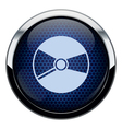 Blue honeycomb cd icon vector image