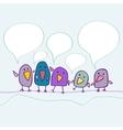 Cartoon birds talking vector image