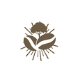 coffee nature abstract logo vector image