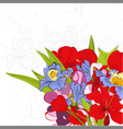 colorful summer background vector image