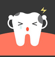 decay tooth cartoon vector image