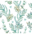 floral seamless pattern Succulents ferns vector image