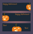three templates of horizontal banners vector image