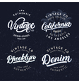 Set of tee prints labels badges vector image
