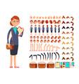 cartoon flat businesswoman character vector image
