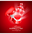 Congratulation on Valentines Day vector image