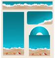 Branding Design Beach Theme vector image vector image