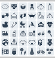 Babykids and toys icon set vector image