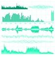 music equaliser set vector image