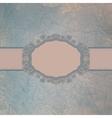 Vintage speech bubble card vector image vector image