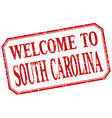 South Carolina - welcome red vintage isolated vector image