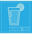 Glass of juice icons White section of icon on vector image