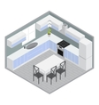 Isometric Home Dining Room vector image vector image