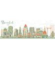 Abstract Bangkok Skyline with Color Landmarks vector image