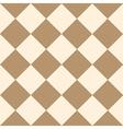 Coffee Brown Cream Chess Board Diamond vector image