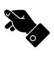 holding hand icon black sign vector image