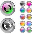 Refresh multicolor round button vector image