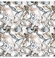 seamless pattern with shells vector image