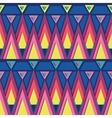 Vibrant triangles seamless pattern background vector image