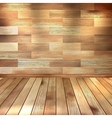 Vintage wooden room EPS 10 vector image