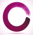 Violet paintbrush circle frame vector image