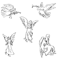 Angels Pencil sketch by hand vector image
