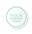 Abstract Design Label vector image