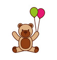 baby shower teddy balloons decoration cute vector image