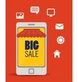 big sale online smartphone app media vector image
