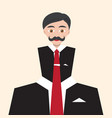 Businessman flat abstract avatar man in suit with vector image
