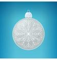 Christmas Silver Ball with Snowflake vector image