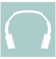 headphones the white color icon vector image
