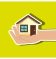 house in hand isolated icon design vector image