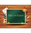 school board tools background vector image