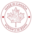 Made in Canada stamp vector image