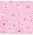Pink abstract line art circles seamless pattern vector image vector image