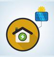 eco design bio icon isolated  green vector image