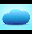 Cloud abstract vector image