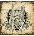 gothic grunge vector image vector image