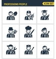Professional business people avatars Character vector image