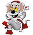 Christmas mouse vector image