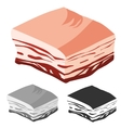 Bacon cut Fresh Meat products vector image