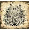 Gothic grunge vector image