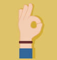 ok nice hand gesture graphic vector image