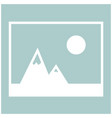 picture of mountains and sun icon the white color vector image