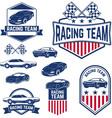 racing team vector image