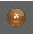 Setting wood application icons vector image