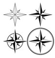wind rose compass navigation sign vector image